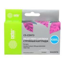 Картридж Cactus CS-CD973 №920XL для HP Officejet 6000/6500/7000/7500 пурпурный 14.6мл