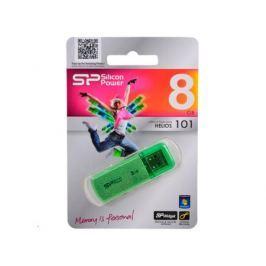 USB флешка Silicon Power Helios 101 Green 8GB (SP008GBUF2101V1N)