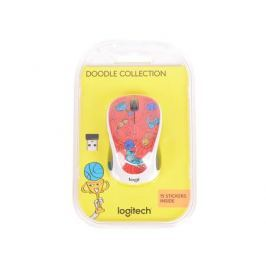 Мышь (910-005054) Logitech Wireless Mouse M238 Doodle Collection CHAMPION CORAL