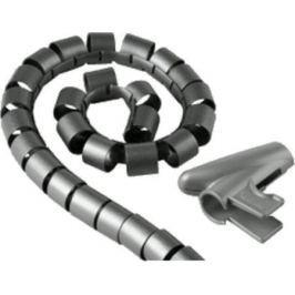 Кабель-органайзер Hama H-20600/20602 20мм пластик серебристый 2.5м