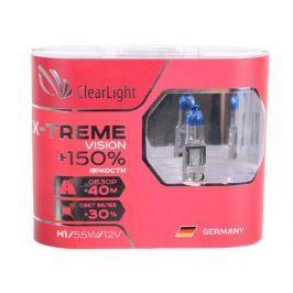 Комплект ламп галогненовых H1(Clearlight)12V-55W X-treme Vision +150% Light (2 шт.)