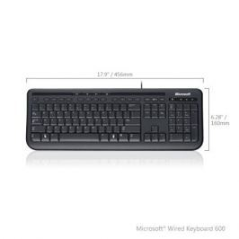 (ANB-00018) Клавиатура Microsoft Wired 600 Keyboard USB Black Retail