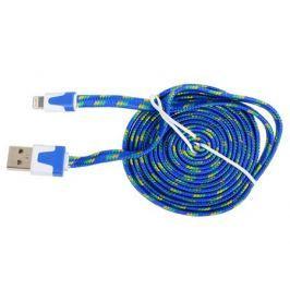 Кабель Lightning 8pin-USB Ritmix RCC-222 Blue для синхронизации/зарядки, 2м, ткан. опл.