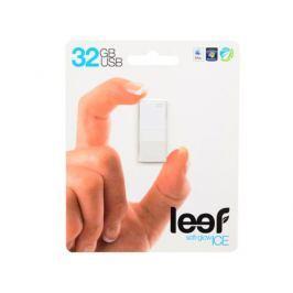 Внешний накопитель 32GB USB Drive (USB 2.0) Leef ICE White Прозрачный, с мягкой подсветкой