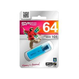 USB флешка 64GB USB Drive (USB 2.0) Silicon Power Helios 101 Blue (SP064GBUF2101V1B)