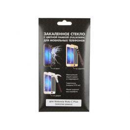 Закаленное стекло с цветной рамкой (fullscreen) для Motorola Moto C Plus DF mColor-02 (gold)