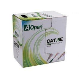 Сетевой кабель бухта 305м UTP 5e Aopen ANC514-40 4 пары, одножильный 26AWG (4X2X0.4мм )