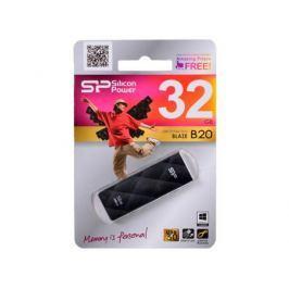Внешний накопитель 32GB USB Drive (USB 3.0) Silicon Power Blaze B20 Black (SP032GBUF3B20V1K)