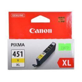 Картридж Canon CLI-451Y XL для MG6340, MG5440, IP7240 . Жёлтый. 685 страниц.