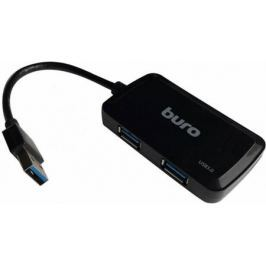 Концентратор USB 3.0 BURO BU-HUB4-U3.0-S 4 х USB 3.0 черный