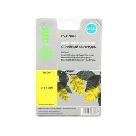 Картридж Cactus CS-CN048 №950/951XL для P OfficeJet Pro 8100/8600 желтый 26мл