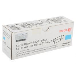Картридж Xerox 106R02760 Phaser 6020/6022/WorkCentre 6025/6027 Cyan Print Cartridge