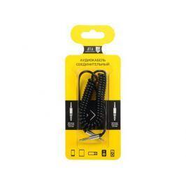 Аудиокабель соединительный Jet.A mini Jack-mini Jack витой JA-AC03 1 м чёрный (PVC, 3 pin/3.5 мм)
