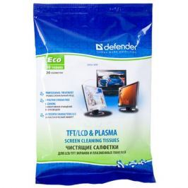 Чистящие салфетки Defender для экр. в мяг. уп (20шт), ECO 30202