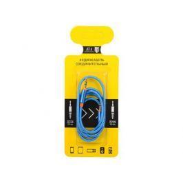 Аудиокабель соединительный Jet.A mini Jack-mini Jack в оплётке JA-AC02 1 м синий (3 pin/3.5 мм)