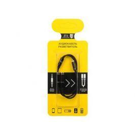 Аудиокабель разветвитель Jet.A mini Jack-2x mini Jack JA-AC04 0.33 м чёрный (PVC, 4 pin/3.5 мм)