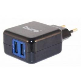 Сетевое зарядное устройство Buro TJ-134B 2.1/1А 2х USB черный
