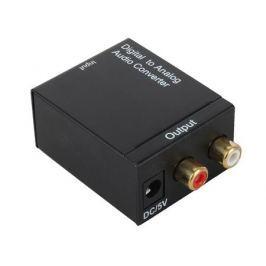 Аудио декодер ORIENT DAC0202, аудио декодер 2.0, преобразование цифрового аудио сигнала в аналоговый стерео, входы: 2x опт.Toslink/1x коакс.RCA, выход