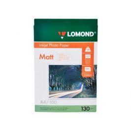 0102004 бумага LOMOND (A4, 130гр, 100л) Photo Матовая/Матовая