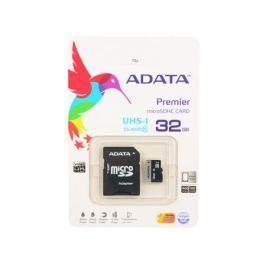 MicroSDHC A-Data 32Gb Class10 UHS-I + Адаптер (AUSDH32GUICL10-RA1)