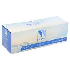 Картридж NV-Print совместимый HP CC531A/Canon 718 голубой для LJ Color CP2025/CM2320/Canon i-SENSYS LBP-7200C/MF8330C/8350C (2800k)