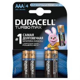 Батарейки DURACELL LR03-4BL TURBO Max (40/120/21120) Блистер 4 шт (AAA)