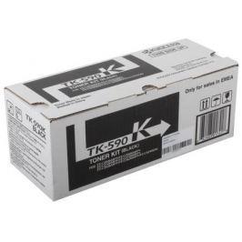 Тонер Kyocera TK-590Bk для FS-C2026MFP/C2126MFP/C2526MFP/C2626MFP/C5250DN. Чёрный 7000 страниц.