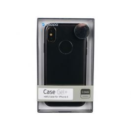 Чехол Deppa 85336 Gel Plus Case матовый для Apple iPhone X, черный кейс, полиуретан