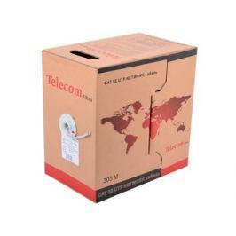 Сетевой кабель бухта 305м UTP 5e Telecom Ultra Base TUS44048 4 пары, одножильный, 24AWG/0.51мм омедненный Green\Orange\gray