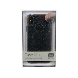 Чехол Deppa 85339 Chic Case для Apple iPhone X, черный кейс, полиуретан