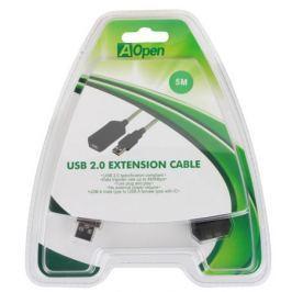 Кабель удлинитель активный(с усилителем) USB2.0-repeater, AM/AF 5м Aopen(ACU823-5M)