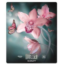 Весы кухонные электронные Scarlett SC-KS57P31 рисунок/орхидея