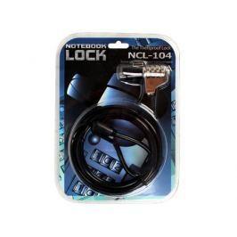 Трос безопасности для защиты ноутбуков 1.8m с кодовым замком Cable Lock NCL-104