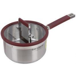 Ковш с крышкой ENDEVER BJORG 1809, 2,2л, 18см* 9.0см, нержавеющая сталь 18/10, силиконовые ручки и края крышки, подходит для всех видов плит