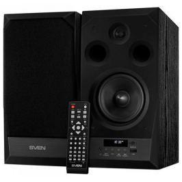 Колонки Sven MC-20 2.0 Black 2х45 Вт, 40-27000 Гц, Bluetooth, пульт ДУ, mini Jack, microSD, MDF, USB, 220V