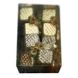 Набор украшений елочных стеклянных блестящих, матовых, 16 шт. в прозрачной коробке, 3 см, 6 цв.