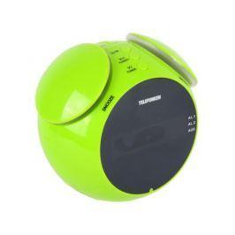 Часы с радиоприемником TELEFUNKEN TF-1570(зеленый с янтарным)