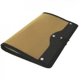 Визитница настольная на резинке, блок 120 визиток, 230х140 мм, пластик, золотая