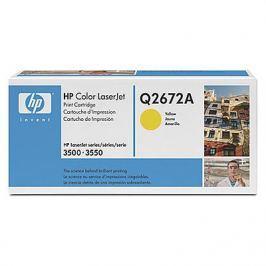 Картридж HP Q2672A для CLJ 3500. Жёлтый. 4000 страниц.