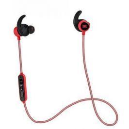 Наушники (гарнитура) JBL Reflect Mini BT Red Беспроводные / Внутриканальные с микрофоном / Красный / 10 Гц - 22 кГц / 95 дБ / до 8 ч / Bluetooth, Micro-USB