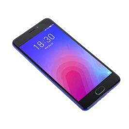 Смартфон Meizu M6 Blue, M711H, 5.2'' 1280x720, 1.0GHz+1.5GHz, 8 Core, 2/16GB, up to 128GB, 13Mp/8Mp, 2 Sim, 2G, 3G, LTE, BT, Wi-Fi, GPS, Glonass, 3070
