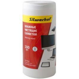 Чистящие салфетки влажные Silwerhof Screen Clean для экранов мониторов/телевизоров всех типов 100шт
