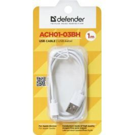 Кабель Defender ACH01-03BH USB-Lightning 1.0м белый 87479