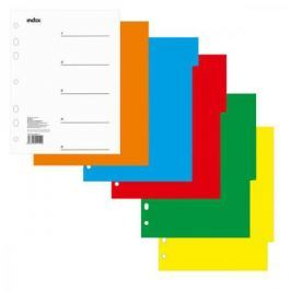 Разделитель пластиковый, цветной (5 цв.), А5 IND111
