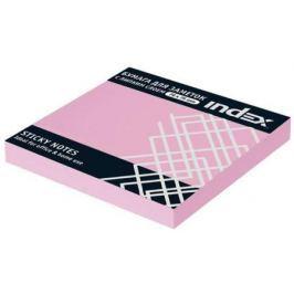 Набор стикеров с липким слоем Index 100 листов 76х75 мм светло-розовый