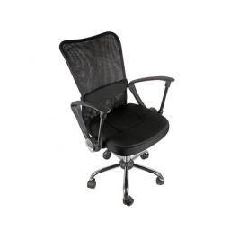 Кресло офисное COLLEGE H-298FA-1 Черный, ткань, сетчатый акрил, 120 кг, крестовина хром, подлокотники черный пластик. (ШxГxВ), см 51x54x90-100