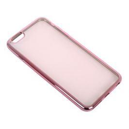 Силиконовый чехол с рамкой для iPhone 6 Plus/6S Plus DF iCase-03 (rose gold)