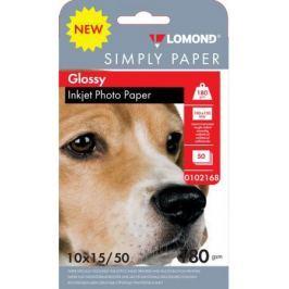 Фотобумага Lomond Simply 10x15 180г/м2 50л белый глянцевое покрытие для струйной печати 0102168