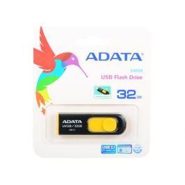 Флешка USB 32Gb A-Data UV128 USB3.0 AUV128-32G-RBY черный/желтый
