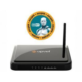 Маршрутизатор UPVEL UR-315BN 4xLAN 10/100Base-TX, 1xWAN, Wi-Fi 150Mbit/s, IP-TV, антенна 2дБи (рекомендован провайдерами)